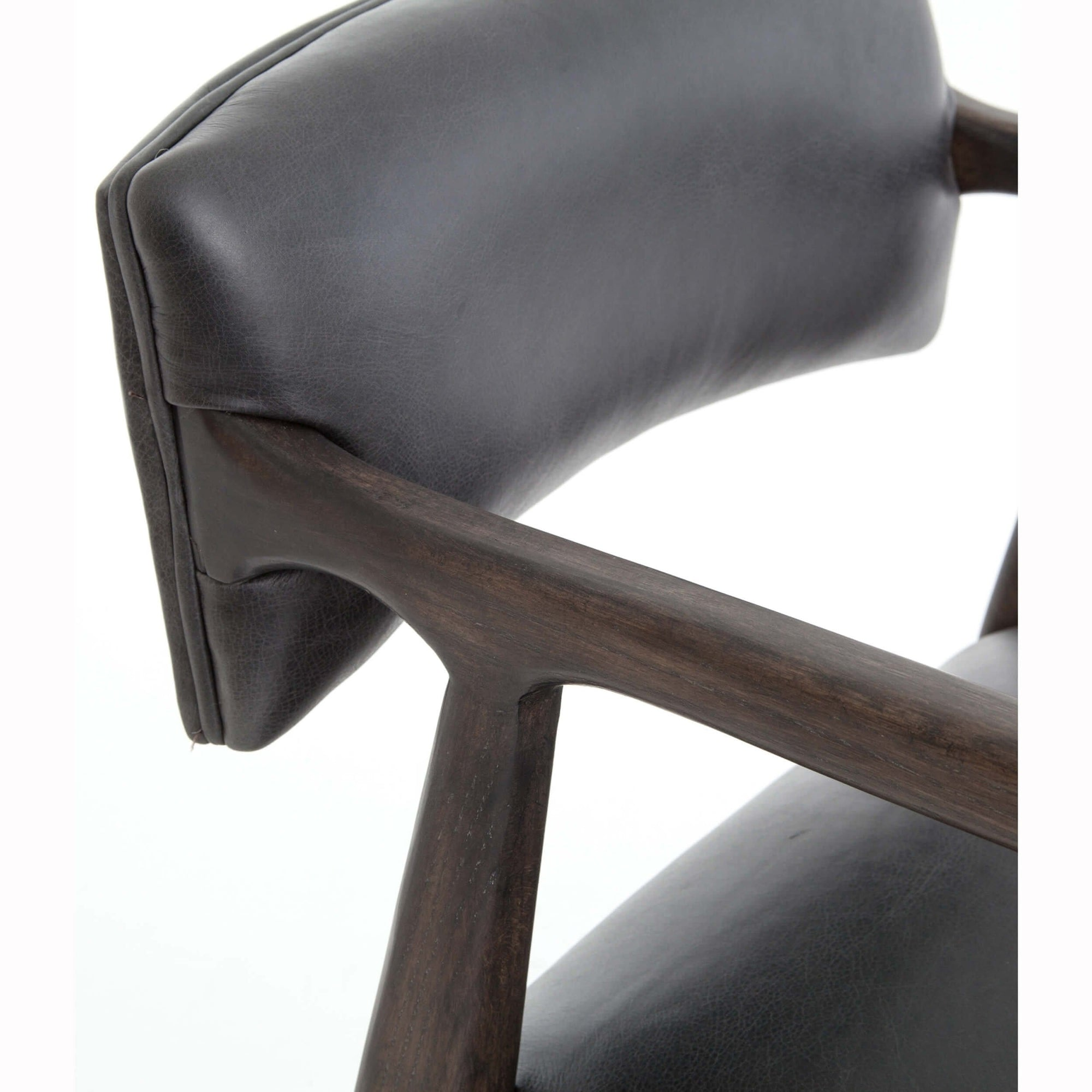 Marvelous Tyler Leather Counter Stool Chaps Ebony High Fashion Home Caraccident5 Cool Chair Designs And Ideas Caraccident5Info