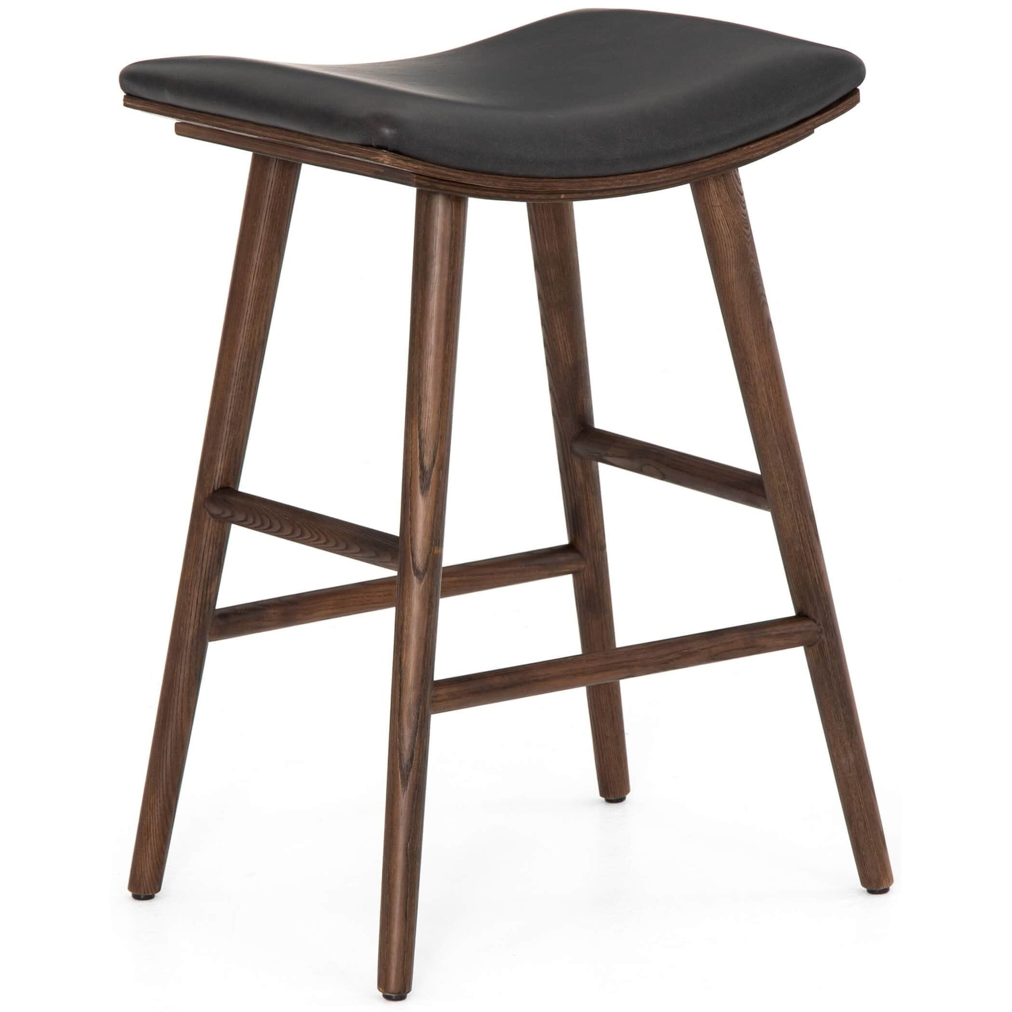Excellent Union Saddle Counter Stool Distressed Black High Fashion Home Forskolin Free Trial Chair Design Images Forskolin Free Trialorg