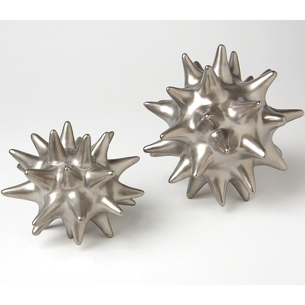 Urchin Matte Silver DwellStudio by Global Views - Accessories - Tabletop - Silver & Grey