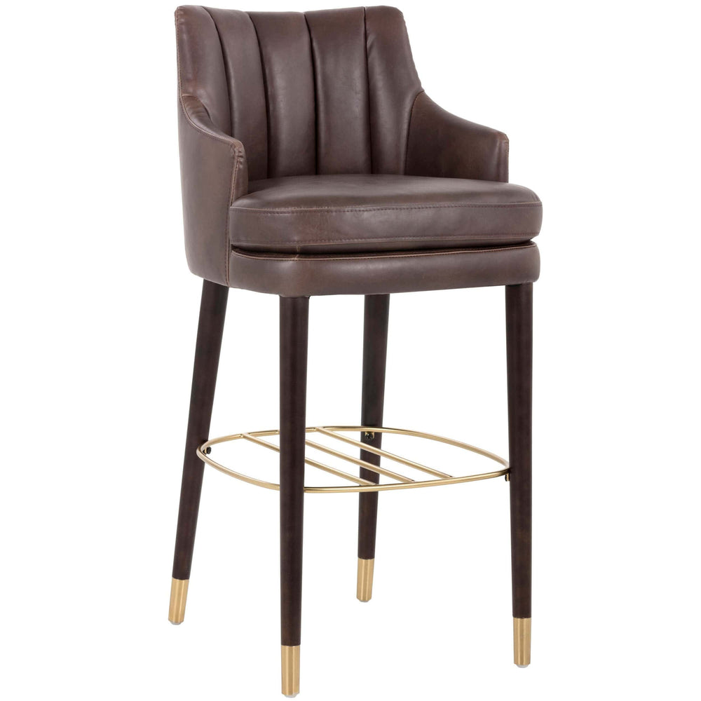 Valerie Bar Stool, Havana Dark Brown - Furniture - Sunpan