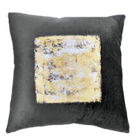 Cloud 9 Charcoal Velvet w/Silver Center Pillow - Accessories - High Fashion Home