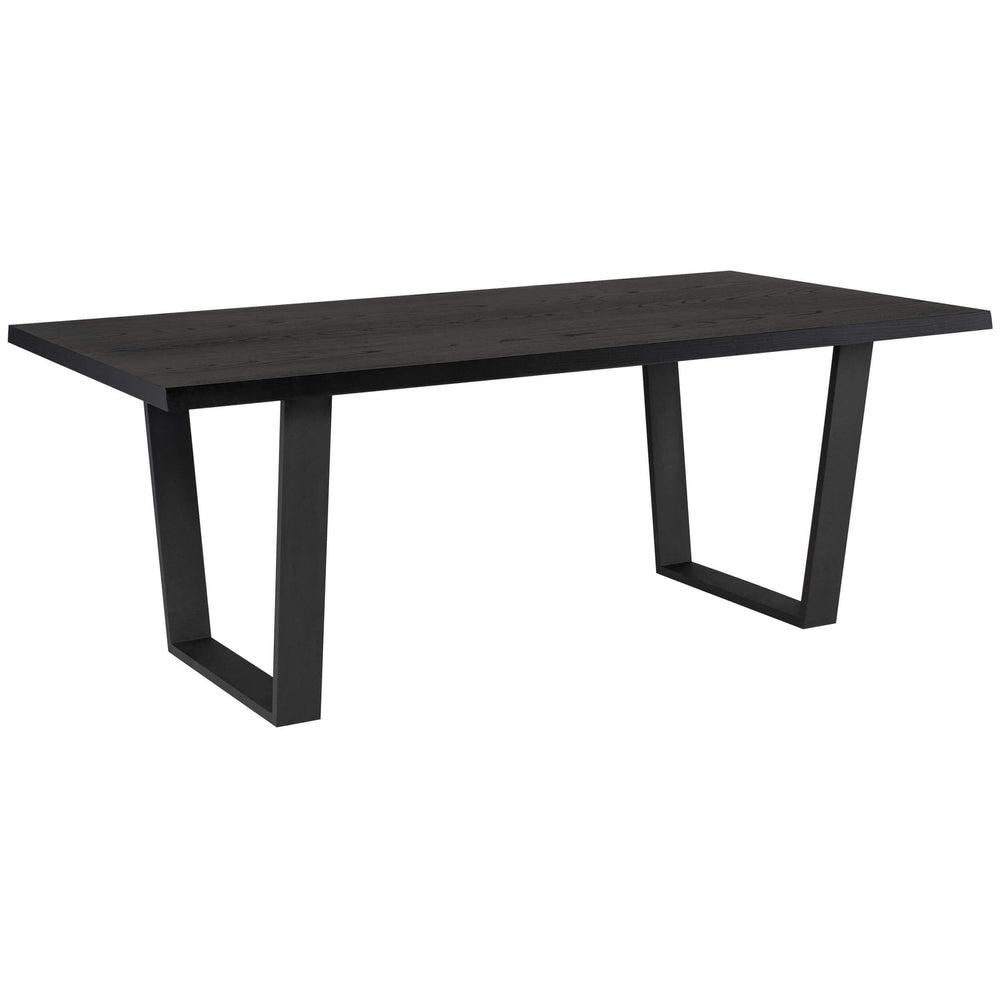 Versailles Dining Table, Onyx/Matte Black Base
