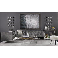 Viper Leather Sofa, Grey   - Furniture - Sofas - Leather