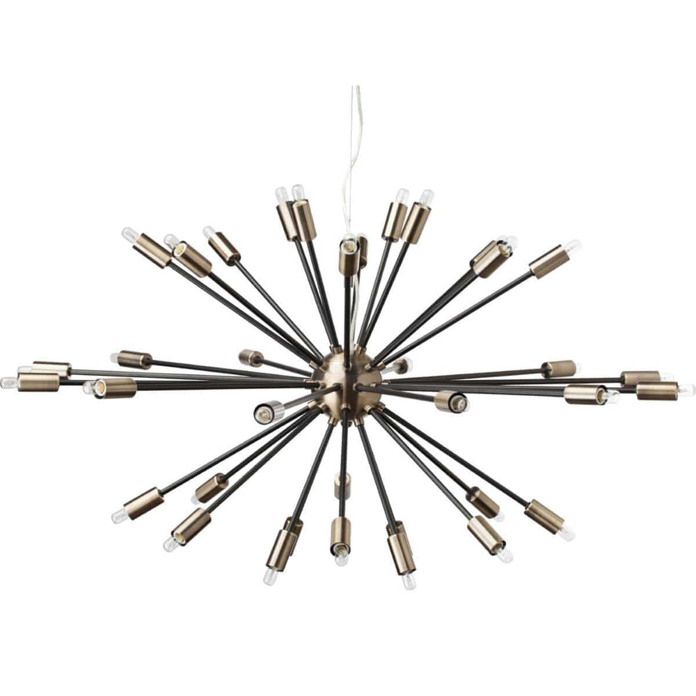 Vladamir Pendant, Antique Brass/Matte Black - Lighting - Chandeliers