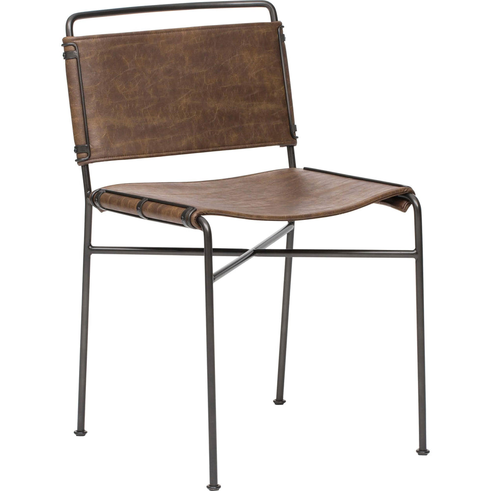 Wharton Dining Chair, Distressed Brown - Furniture - Dining - Chairs & Benches