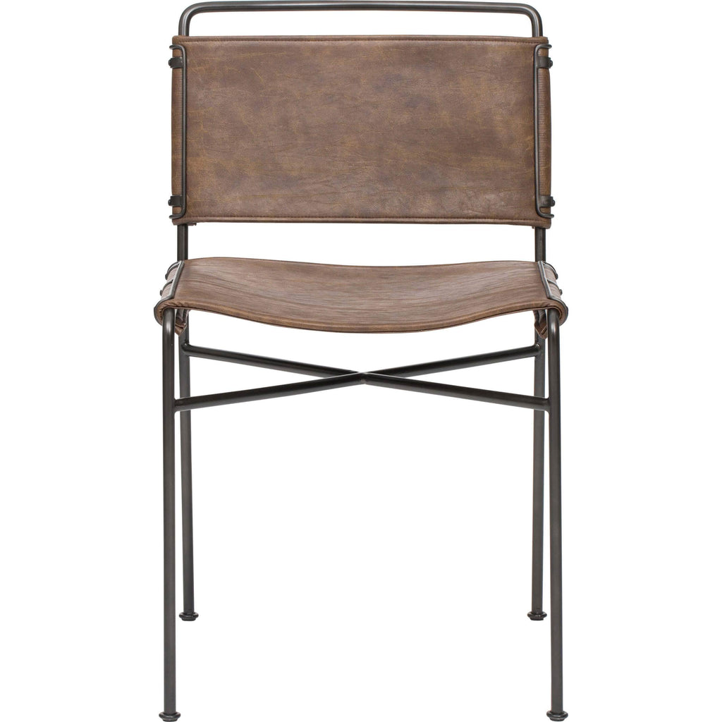 Wharton Dining Chair, Distressed Brown (Set of 2)