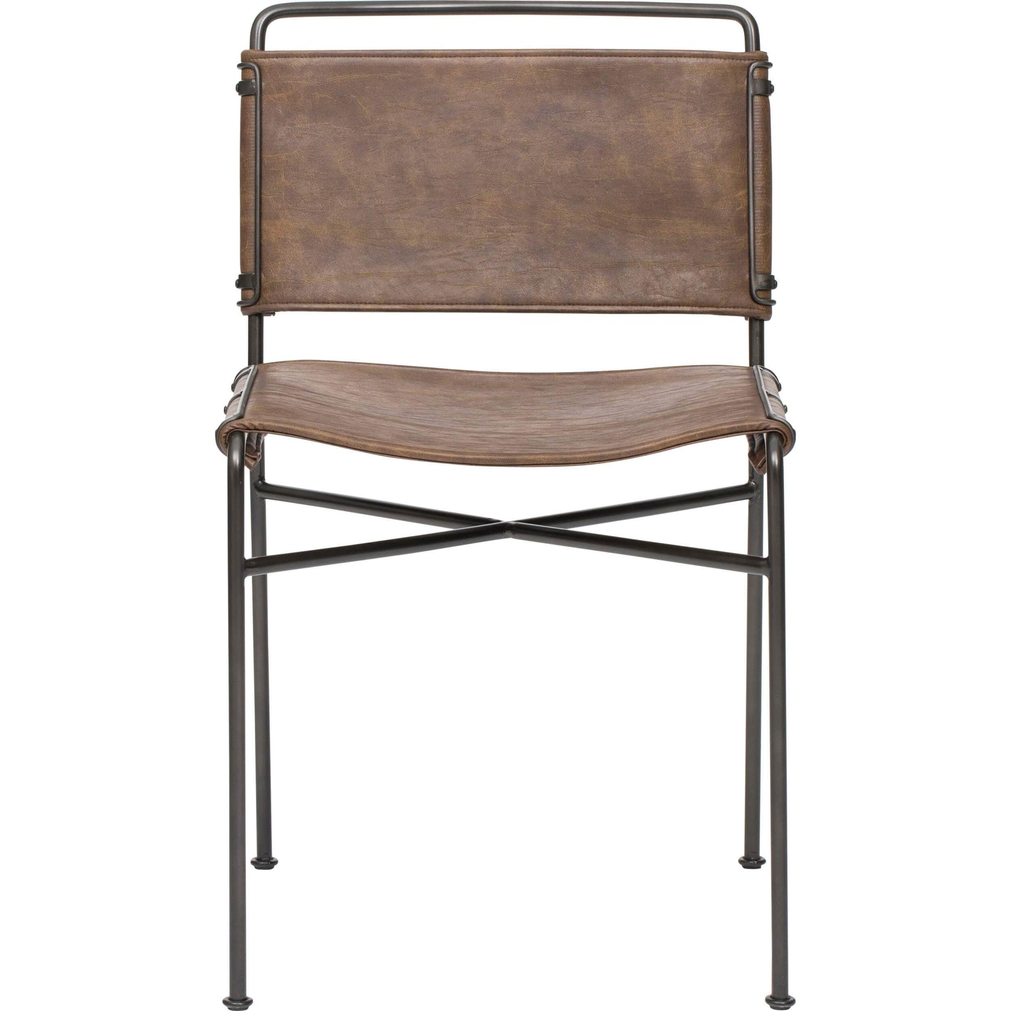 Wharton Dining Chair Distressed Brown Set Of 2 High