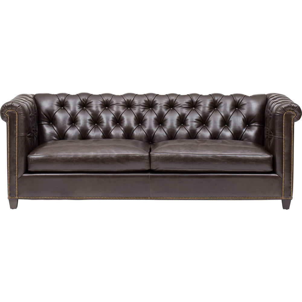 William Leather Sofa, Libby Smoke - Modern Furniture - Sofas - High Fashion Home