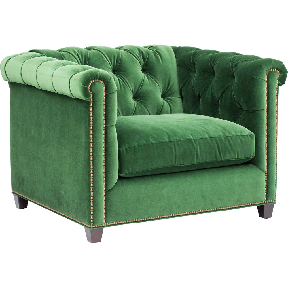 William Chair, Vance Emerald - Furniture - Chairs - Fabric