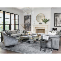 William Grand Sofa, Brussels Charcoal - Modern Furniture - Sofas - High Fashion Home