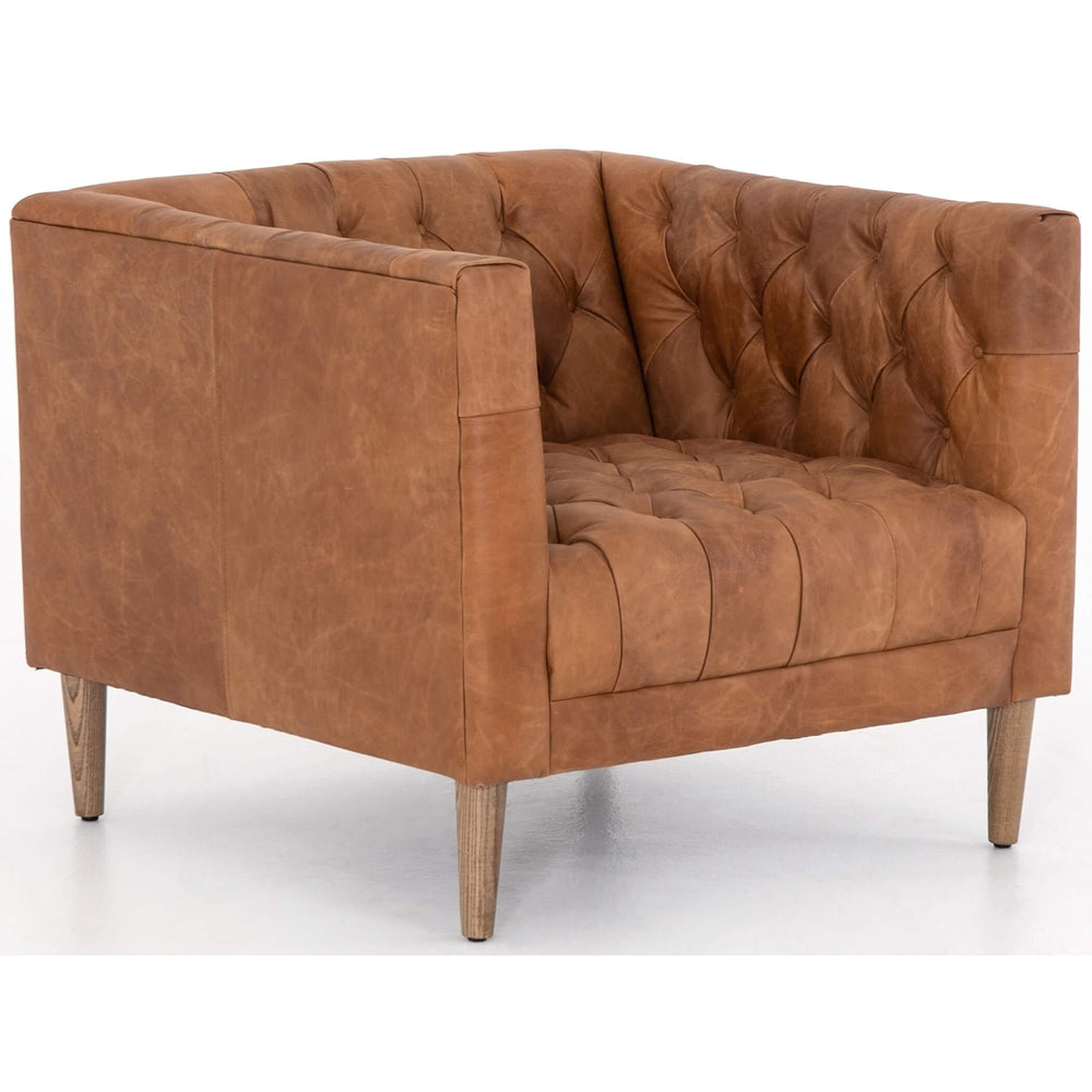 Williams Leather Chair, Natural Washed Camel - Furniture - Chairs - Leather