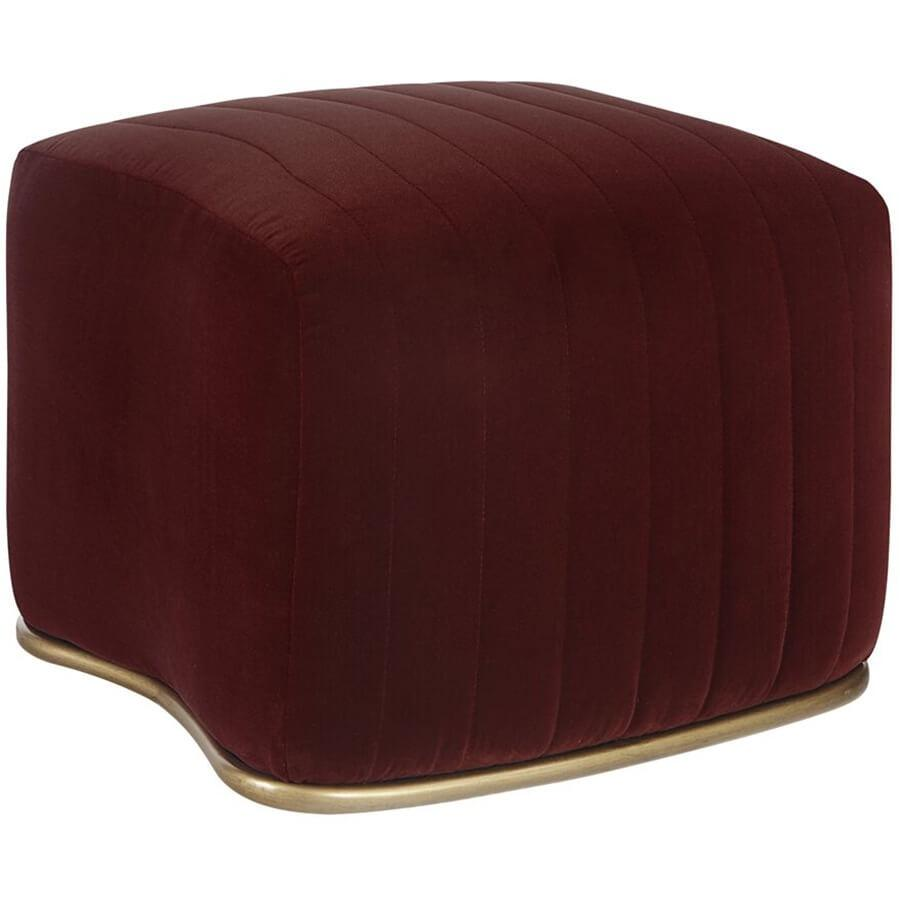 Astrid Ottoman, Merlot - Furniture - Sofas - High Fashion Home