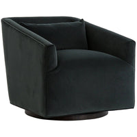 York Swivel Chair, Smoke