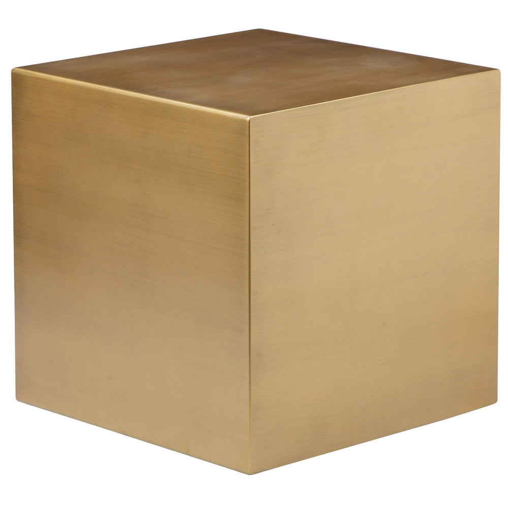 Spencer Small Side Table, Brushed Brass - Furniture - Pangea
