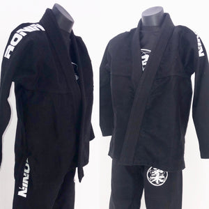 Kids Ronin BJJ Gi - White on Black