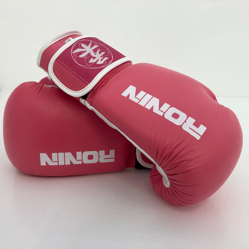 Pink Leather Ronin Boxing Gloves