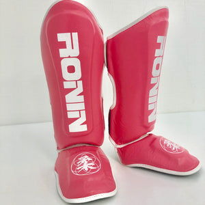 Pink Leather Ronin Shin Pads