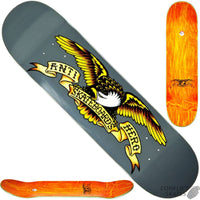 Antihero Classic Eagle Larger Silver Team Pro Deck 8.2