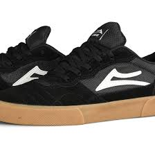 Lakai Cambridge Black Gum Suede Shoe