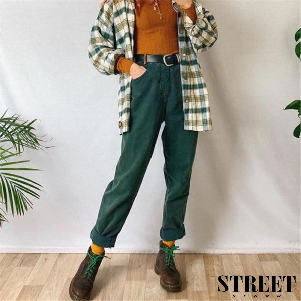 Dark green vintage pants