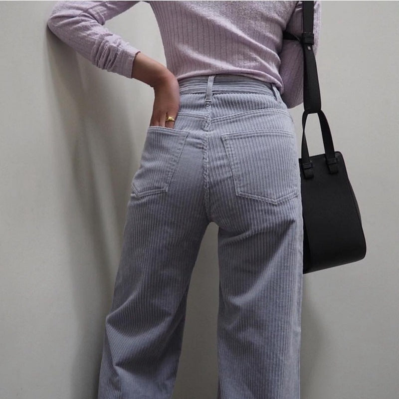 Purple corduroy pants