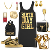 How to Rock Your Birthday Shirt: Birthday Gold Edition