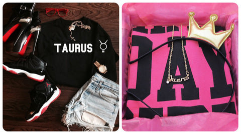 Taurus shirts, sweatshirts and gifts for her birthday and every day