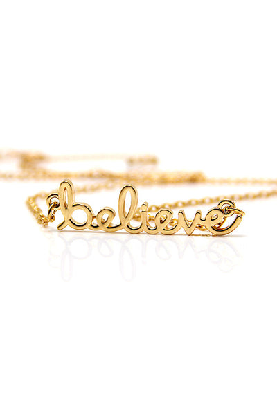 Accessories - Believe Necklace