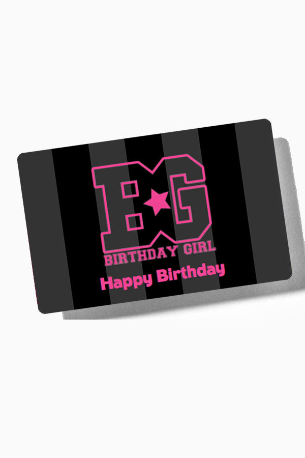 Gift Card - Birthday Girl Gift Card