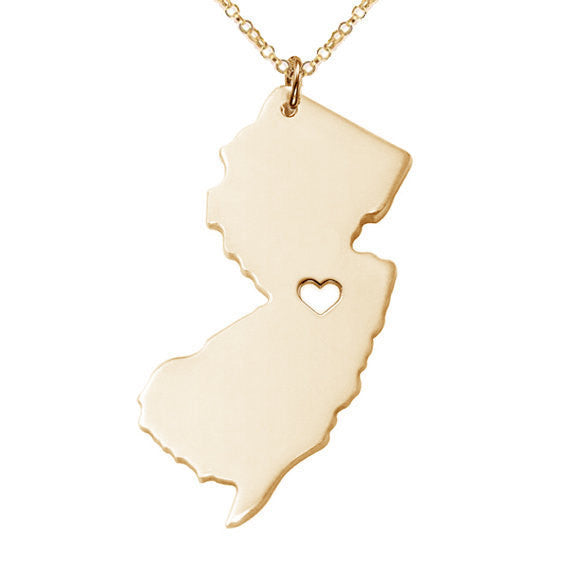 Jewelry - New Jersey State Necklace