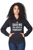 Queens Are Born in February Pullover Hoodie