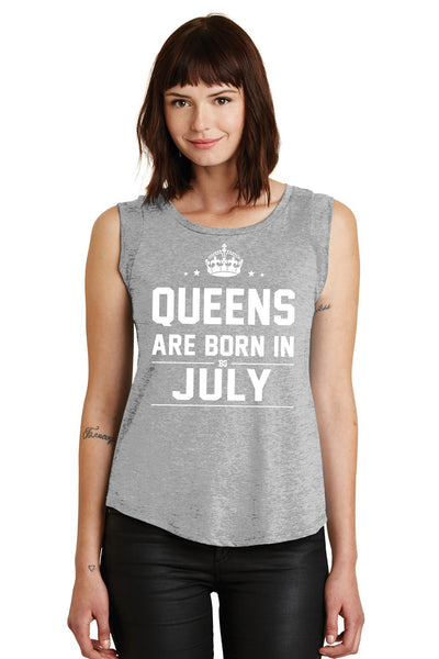 Queens are Born in July Muscle Tank