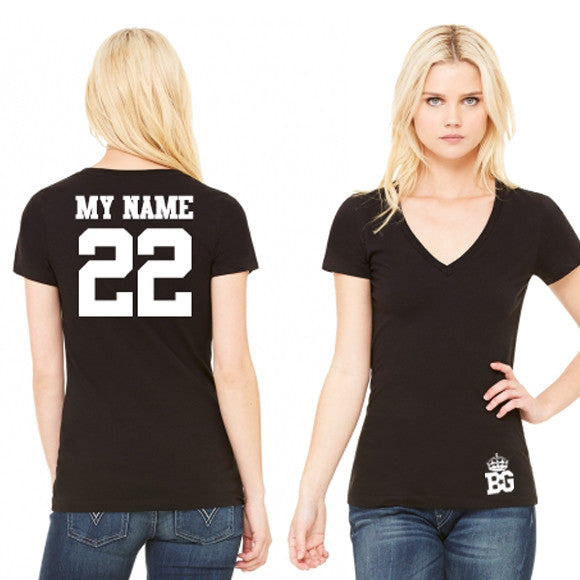 Tshirts - Women - CUSTOM BG Black Tee Customer Design