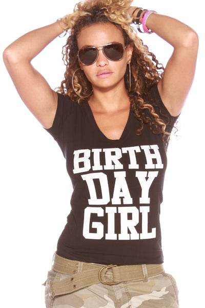 V-Neck - Happy Birthday Tshirt
