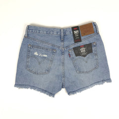 501 High Rise Short Levi's Wm Fault Lines