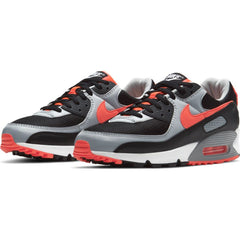 Nike Air Max 90 Men Black Radiant Red Wolf Grey