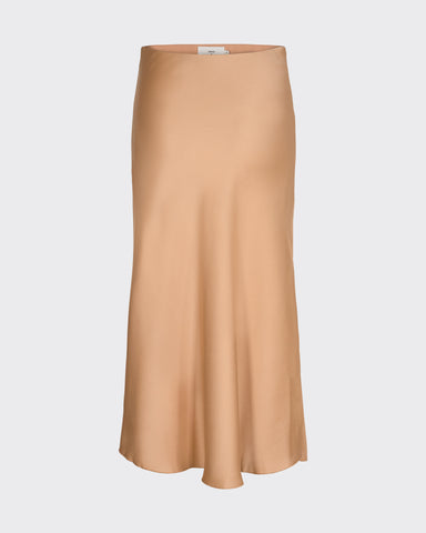 Minimum Albi Midi Skirt Women Tannin
