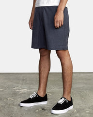 "RVCA Back In 19"" Hybrid Short Men Denim Heather"