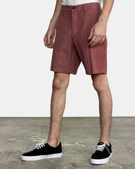 "RVCA Back In 19"" Hybrid Short Men Oxblood Red"