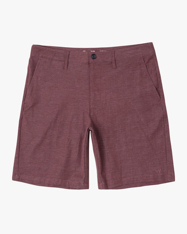 "Back In 19"" Hybrid Short Men RVCA Oxblood Red"