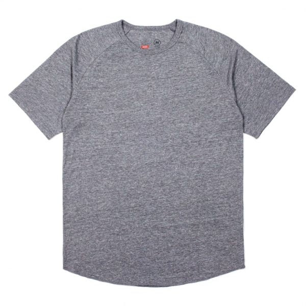 Brixton Basic S/S Baseball Tee Men Heather Grey