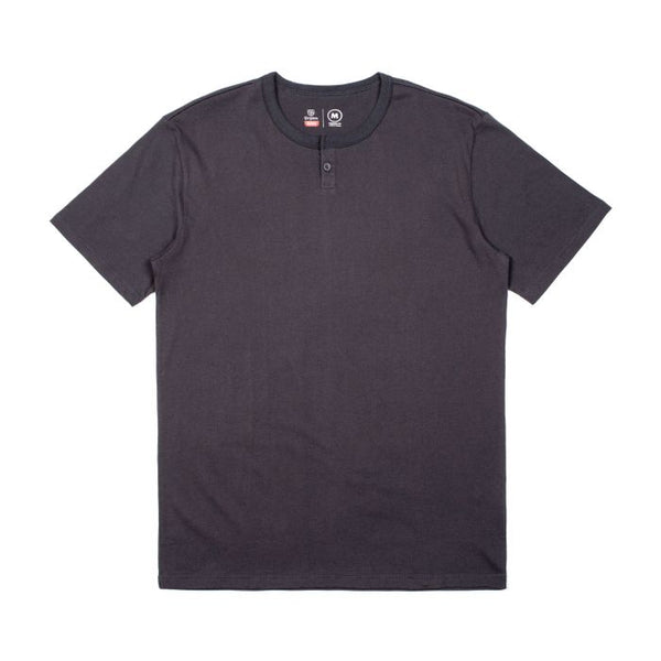 Brixton Basic SS Henley Men Washed Black