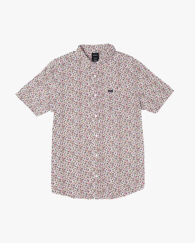Bellflower Short Sleeve Shirt Men RVCA Antique White