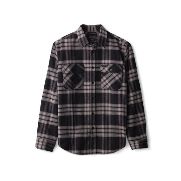 Bowery LS Crossover Flannel Men Brixton Black Charcoal