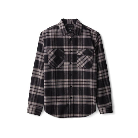 Brixton Bowery LS Crossover Flannel Men Black Charcoal
