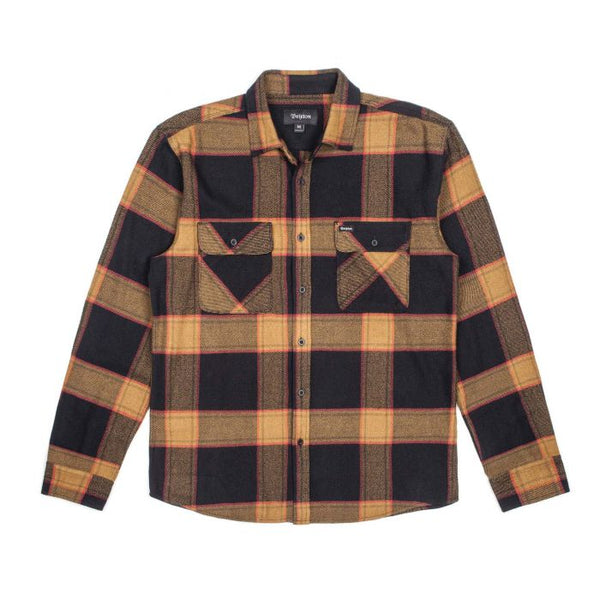 Bowery LS Flannel Men Brixton Black-Gold