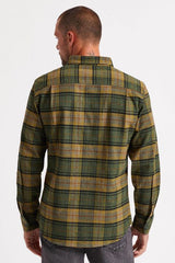 Brixton Bowery LS Flannel Men Black Evergreen