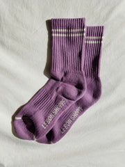 Le Bon Shoppe Boyfriend Socks Women Grape