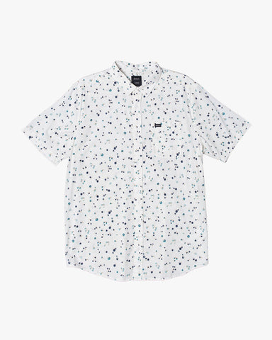 Calico Short Sleeve Shirt Men RVCA Antique White