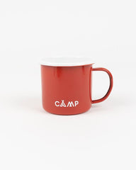 Camp Brand Goods Campers Logo Enamel 12oz Mug Red